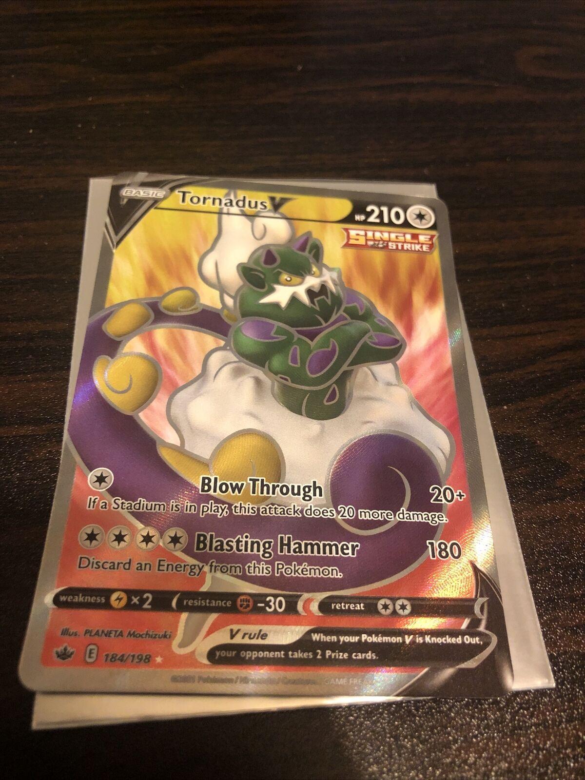 Tornadus V Full Art Pokemon Card - Chilling Reign 184/198 *Mint*