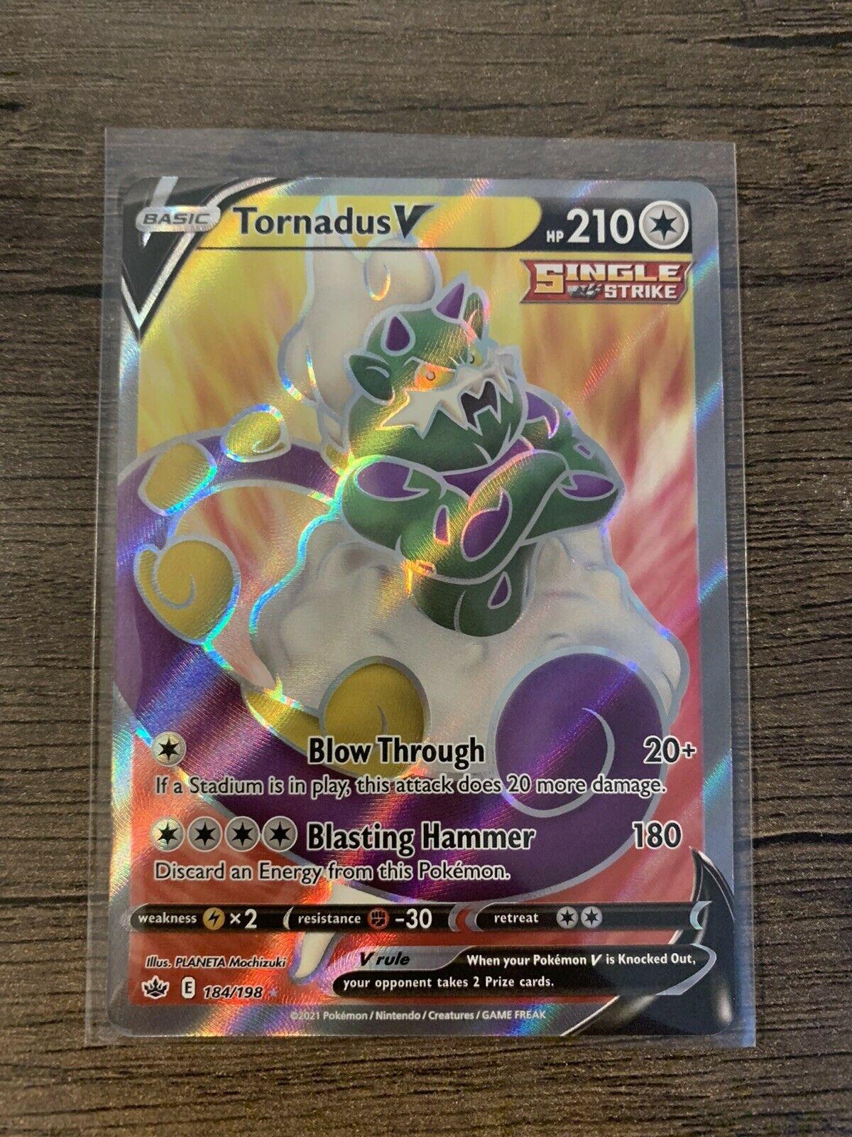Tornadus V 184/198 Chilling Reign Alt Full Art Ultra Rare Holo Pokémon TCG Card