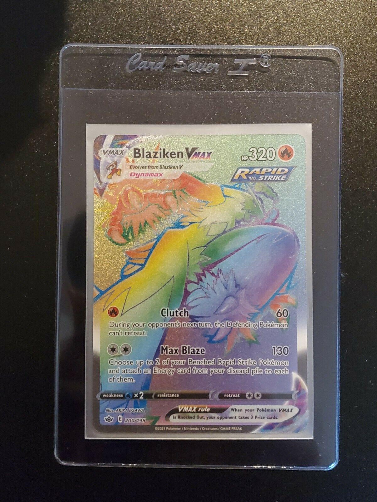 Pokemon Chilling Reign 200/198 Blaziken VMAX Secret Rare (Rainbow)