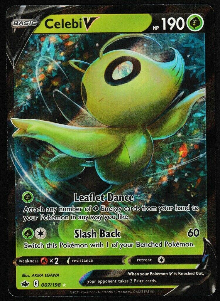 ⭐ Celebi V (007/198) Pokémon Chilling Reign Ultra Rare Pokemon Card