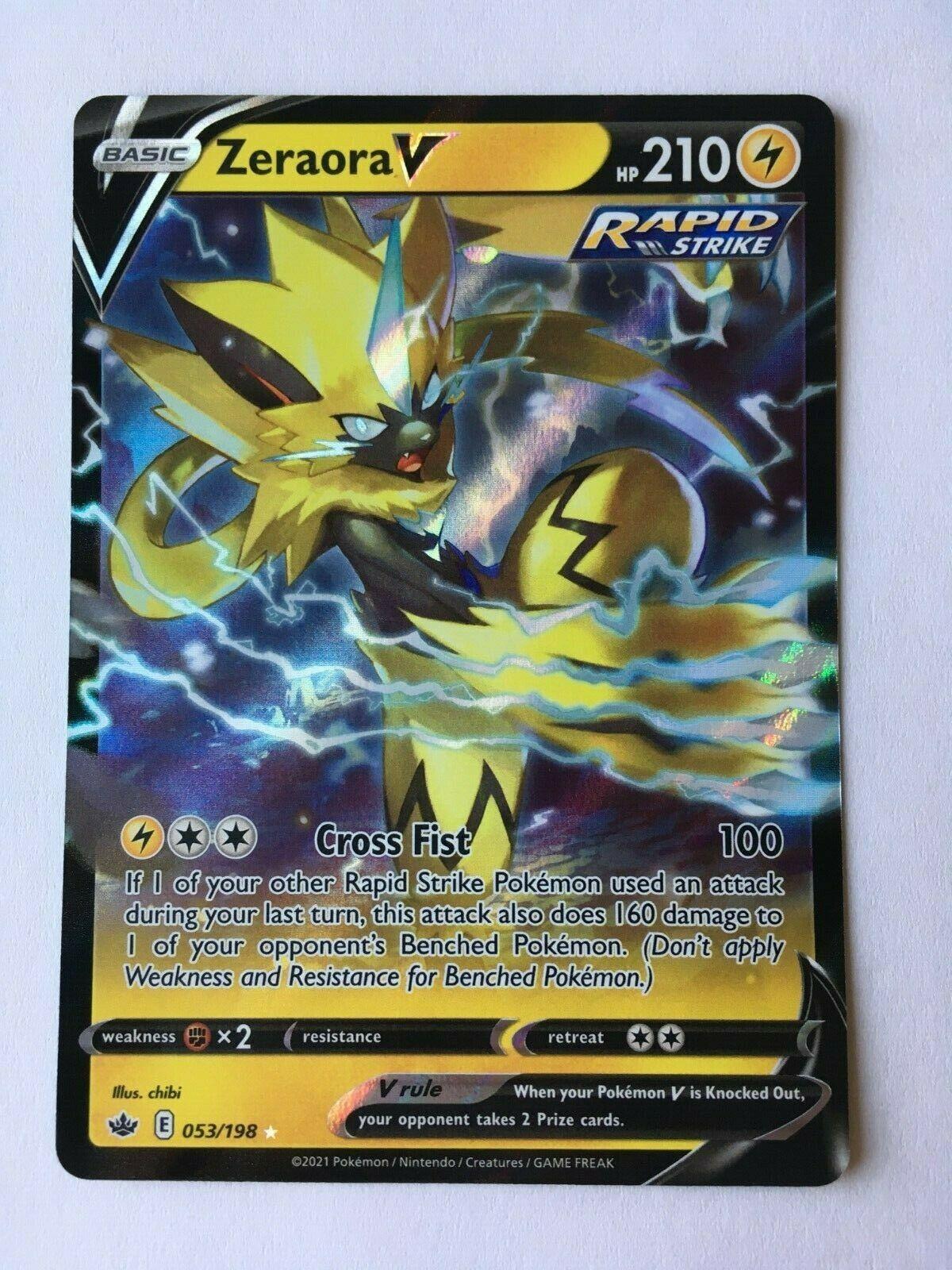 Zeraora V 053/198 Chilling Reign Ultra Rare Pokémon TCG NM