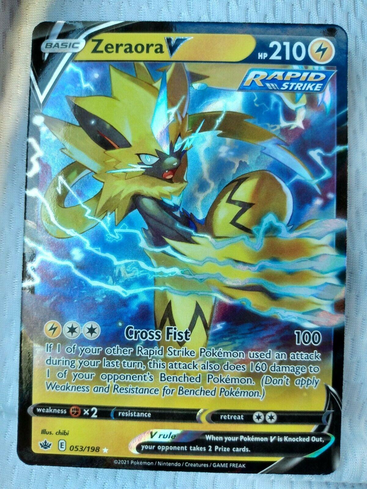 Zeraora v 053/198 Ultra Rare Chilling Reign Rare NM/M Pokemon Card