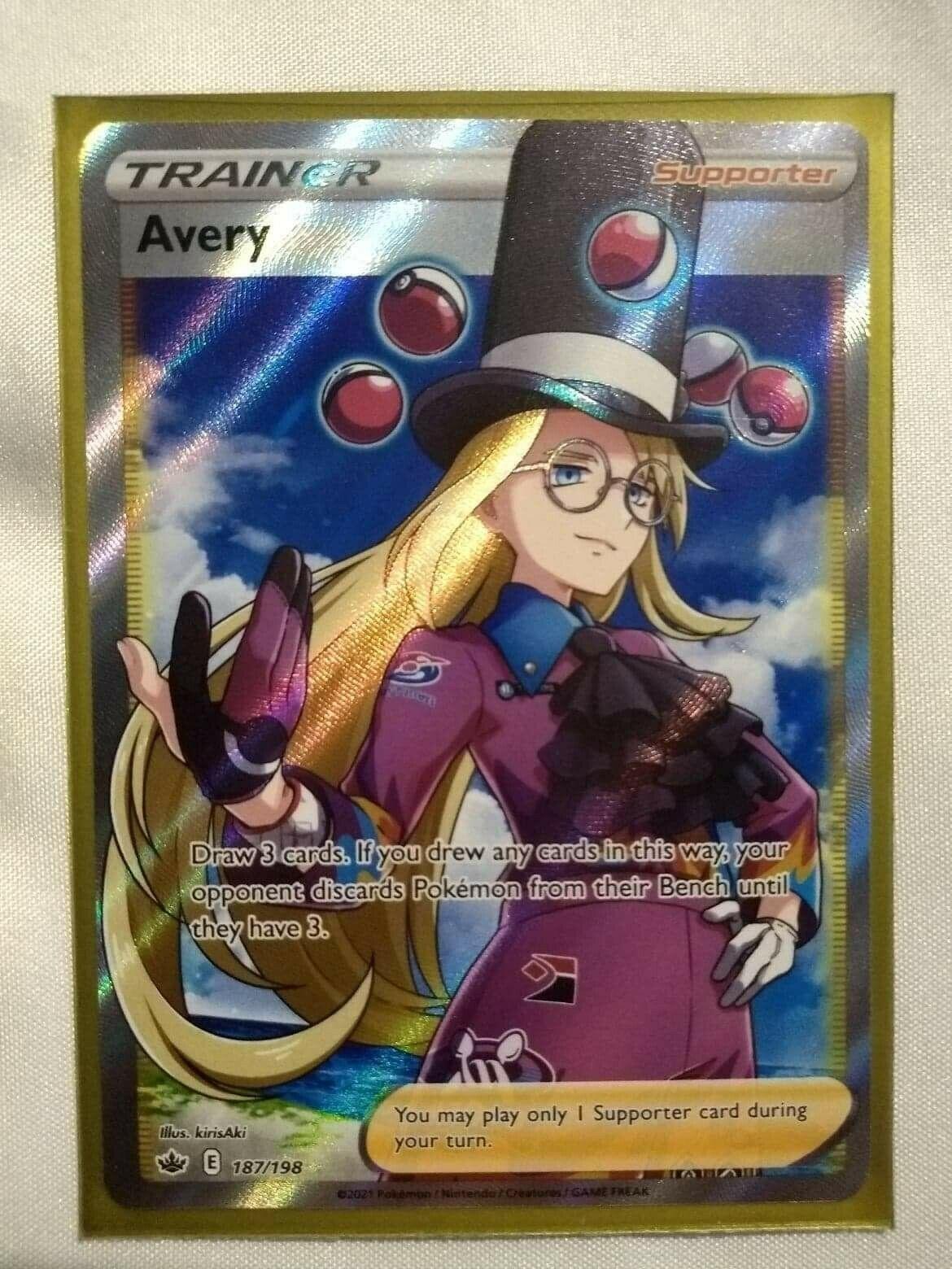 Pokemon - Avery - 187/198 - Full Art - Chilling Reign - MINT/NM