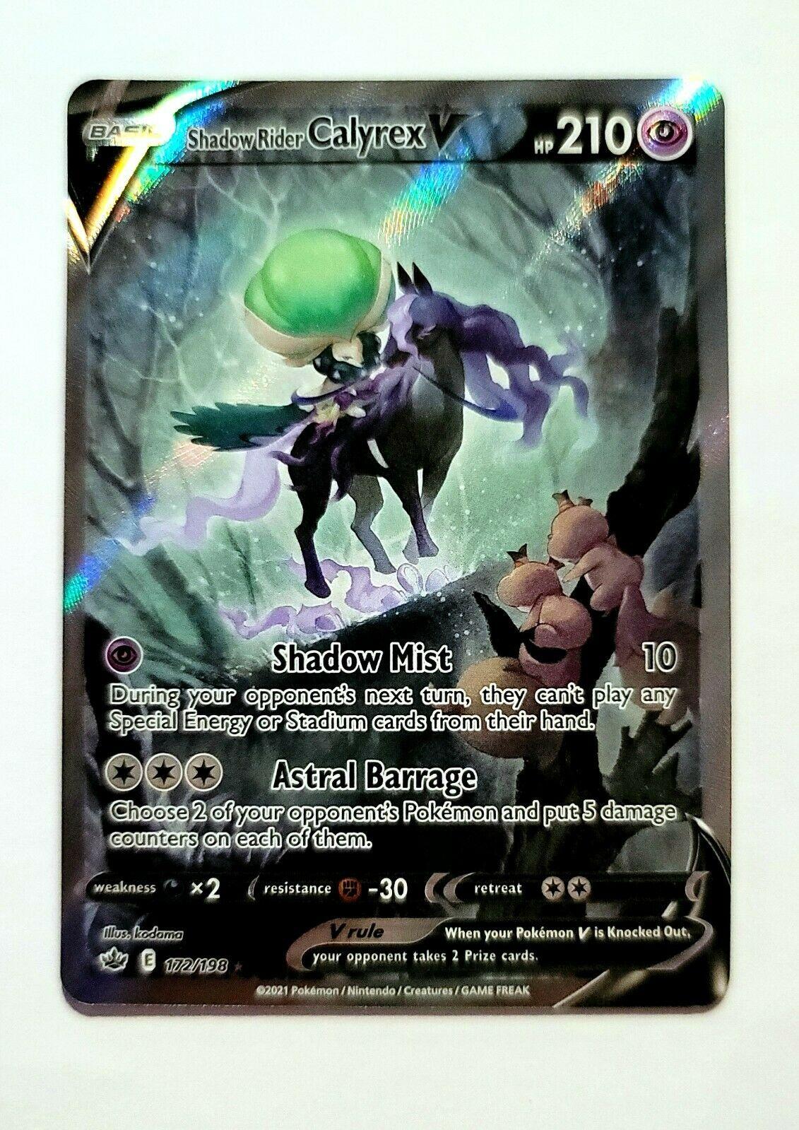 Shadow Rider Calyrex V 172/198 -Pokémon Chilling Reign- Alternate Full Art MINT