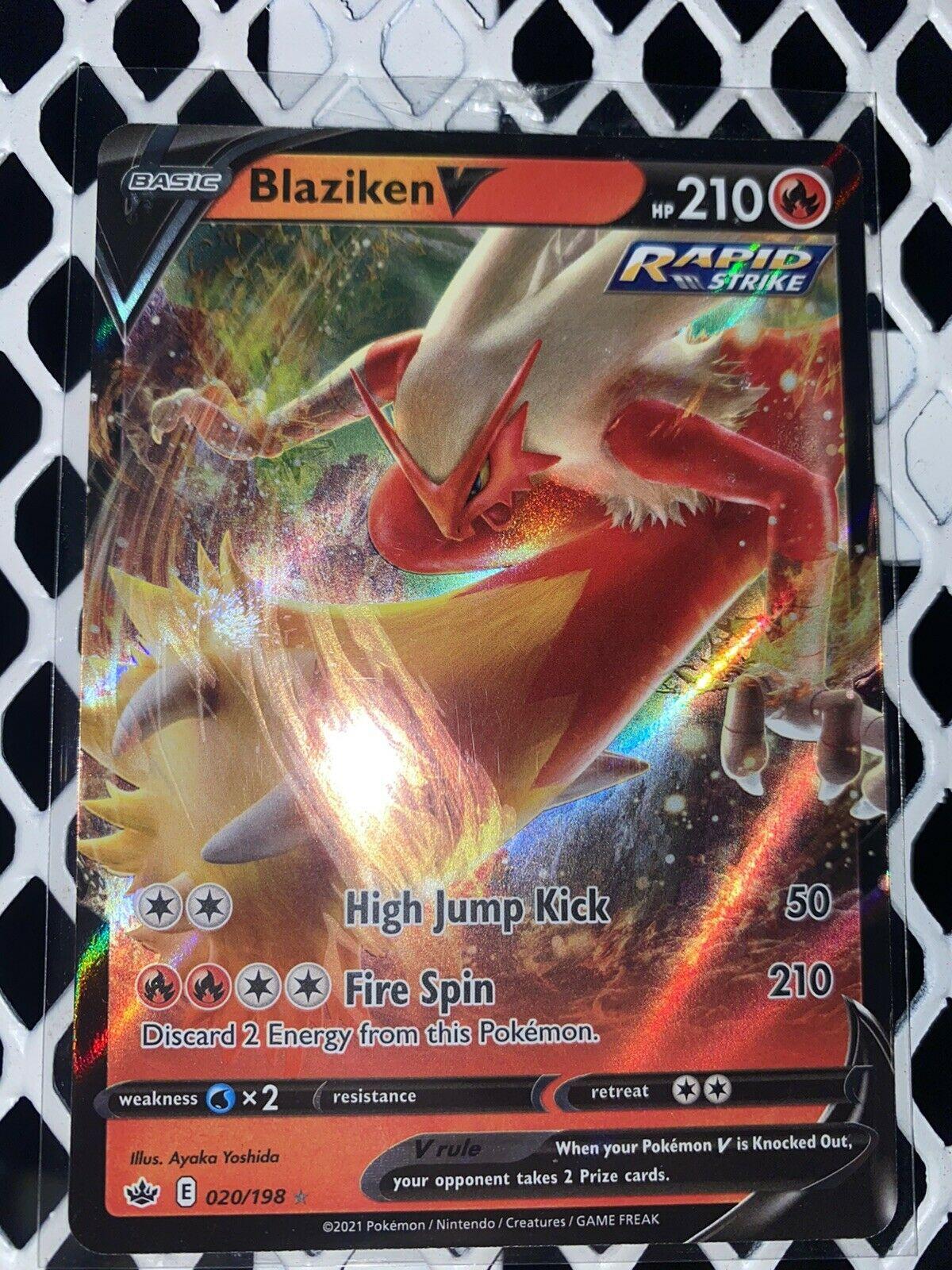 Pokemon: Chilling Reign 020/198 -BLAZIKEN V- Full Art Holo