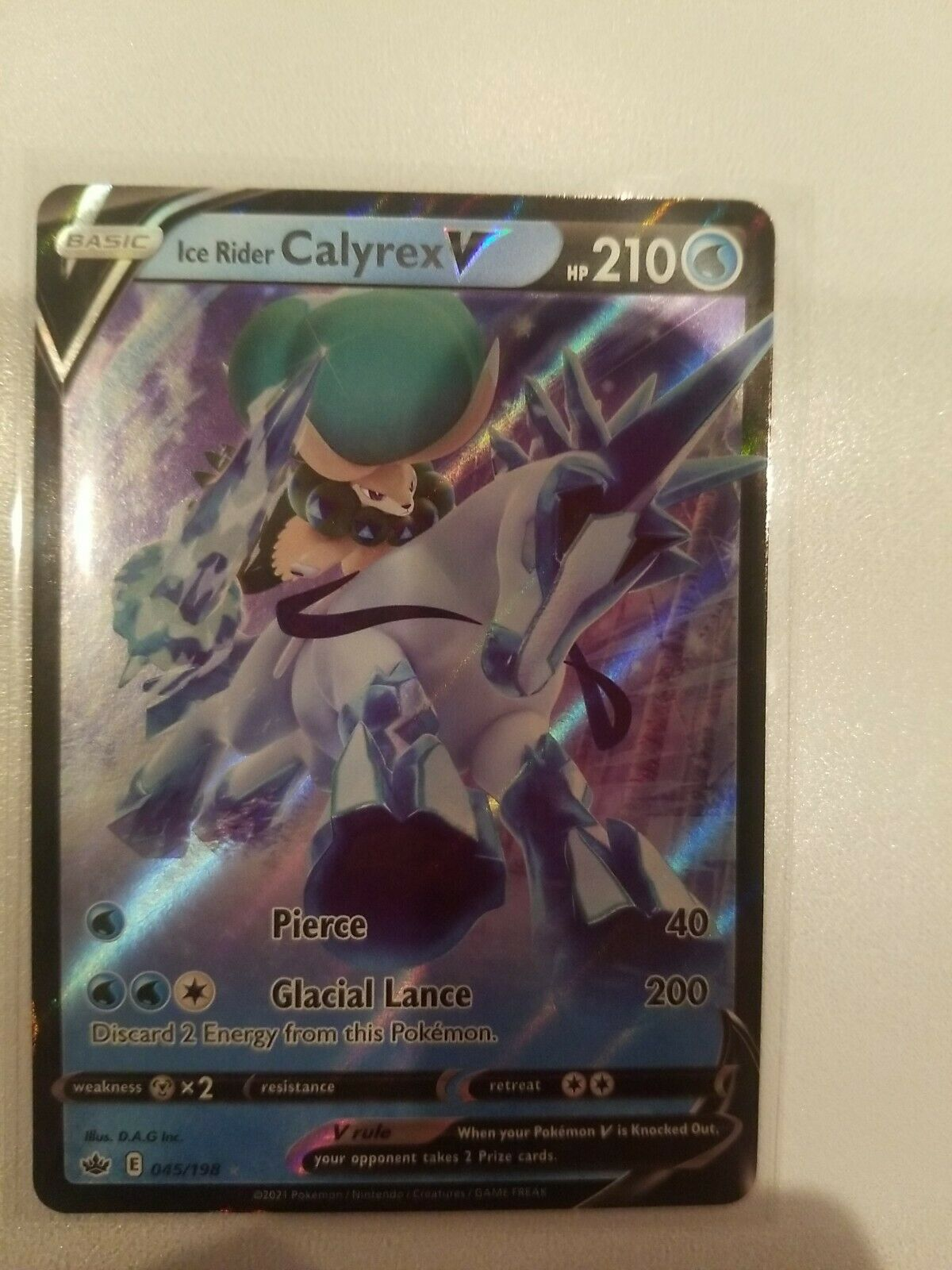 Pokemon TCG Ice Rider Calyrex V Chilling Reign 045/198