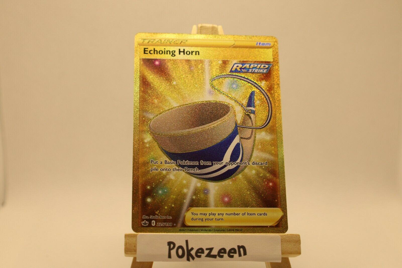 Echoing Horn Secret Rare Holo Gold - 225/198 Pokemon Chilling Reign Full Art - Image 1
