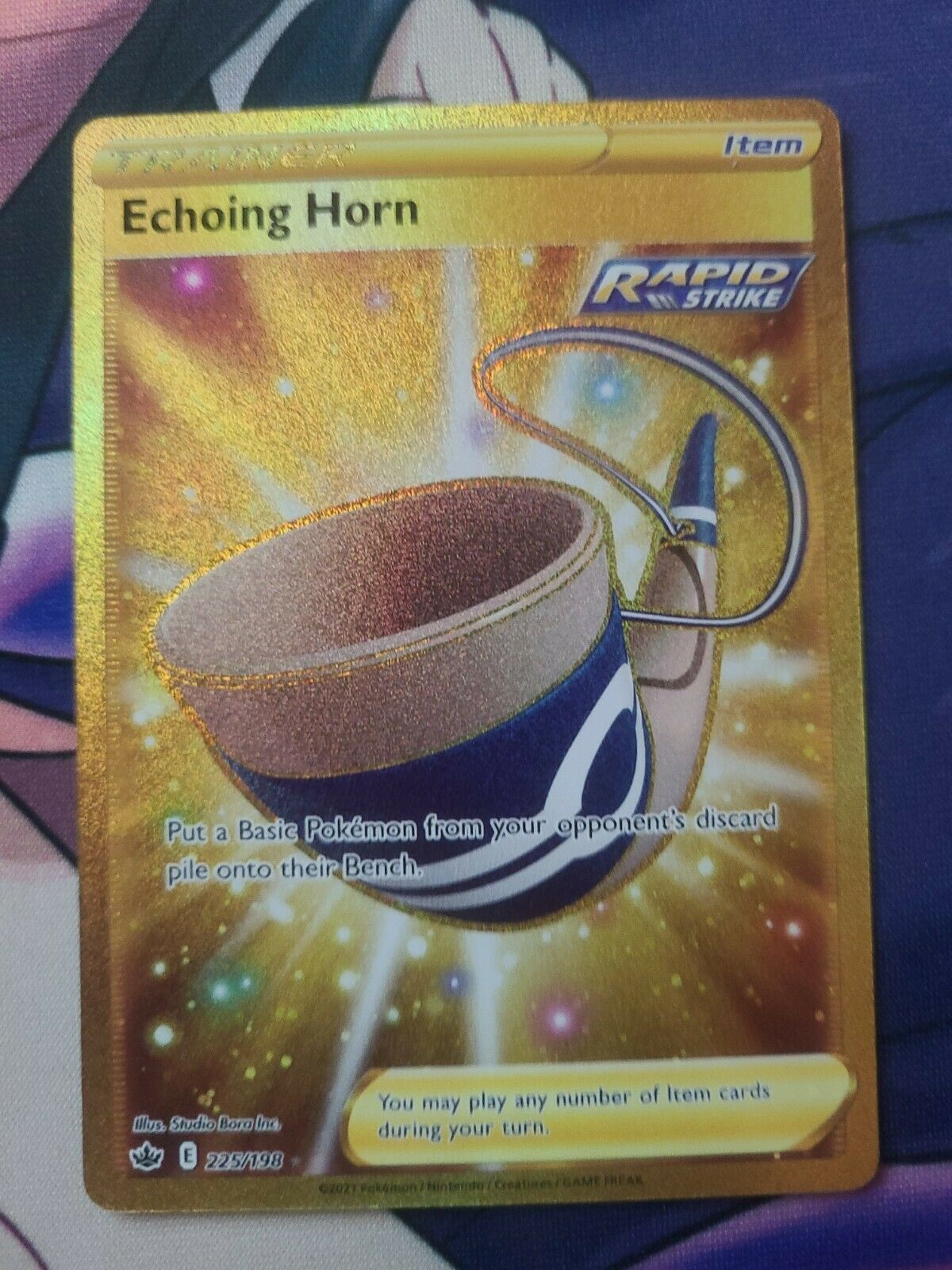 1x Echoing Horn - 225/198 - Secret Rare NM-Mint Pokemon SWSH6 - Chilling Reign