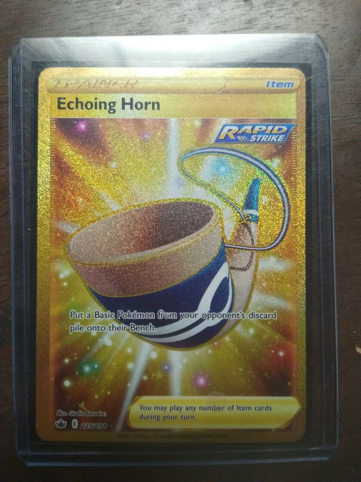 Pokemon - Chilling Reign - Echoing Horn 225/198 Secret Rare