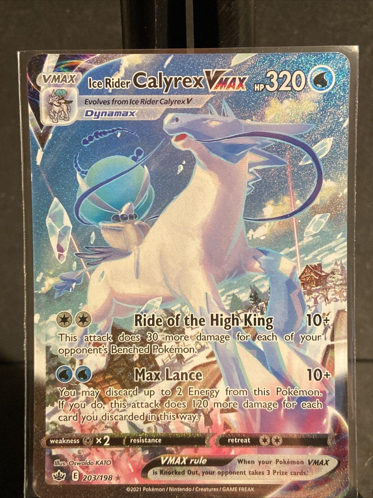 Ice Rider Calyrex Vmax - Secret Rare (Alternate Art) 203/198 Chilling Reign EXC