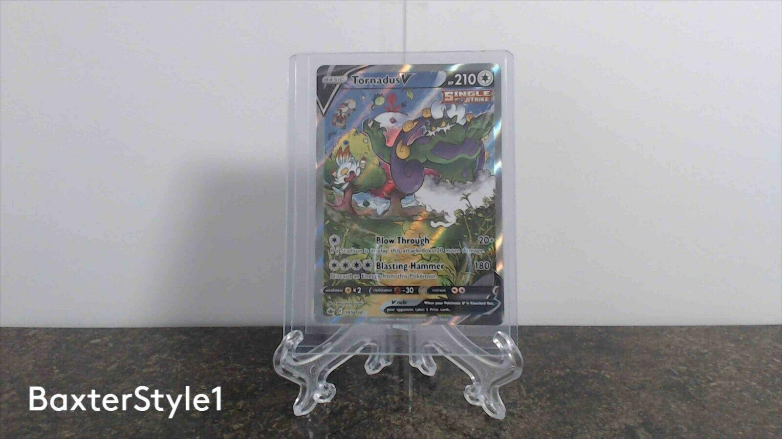 Pokemon TCG Tornadus V (Alt Art) 185/198 Sword & Shield: Chilling Reign