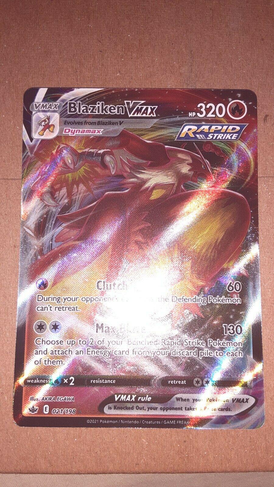 Pokemon TCG Chilling Reign Blaziken VMAX Full Art #021/198 - Image 1