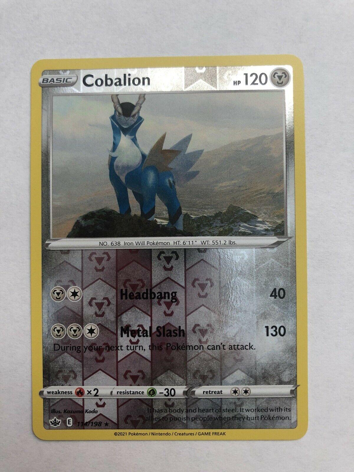 Cobalion 114/198 Reverse Holo Rare Pokemon Chilling Reign