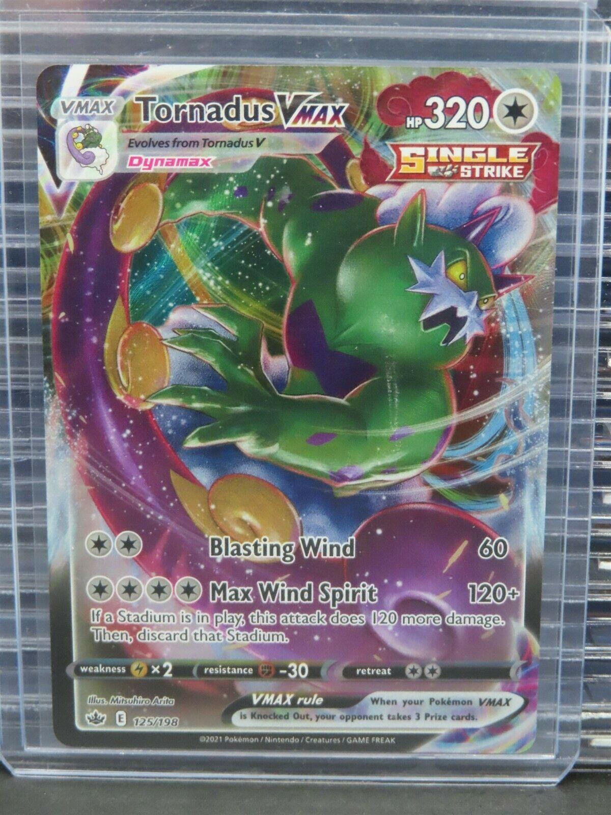Pokemon Tornadus VMAX #125/198 Chilling Reign Full Holo Rare Q918