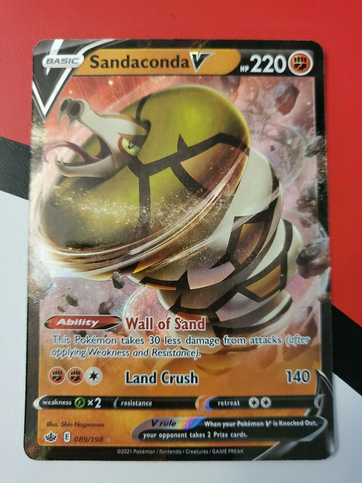 Sandaconda V 089/198 Ultra Rare Chilling Reign POKEMON TCG
