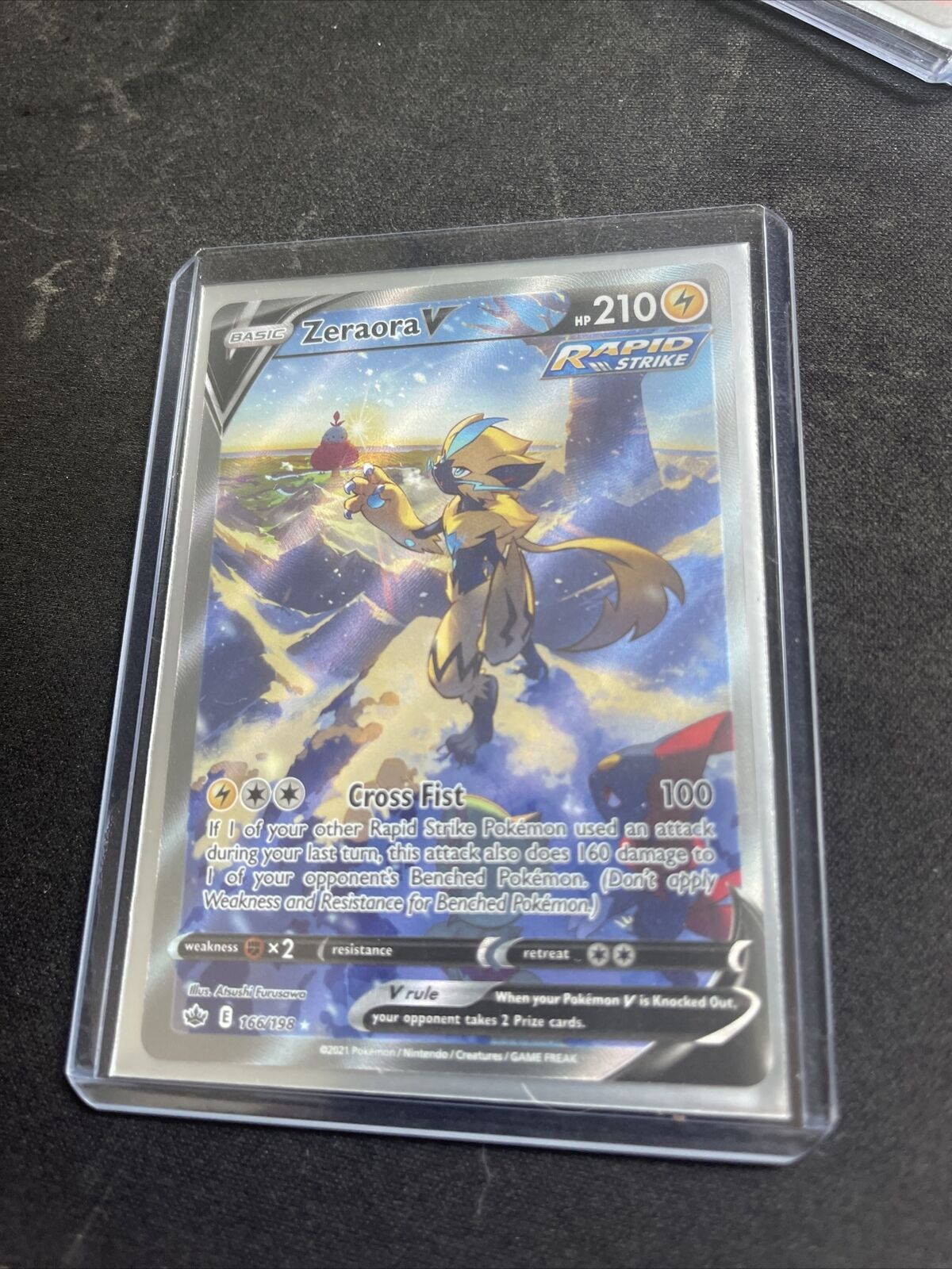 Zeraora V 166/198 Chilling Reign Ultra Rare Alternate Art Pokémon TCG Mint Fresh