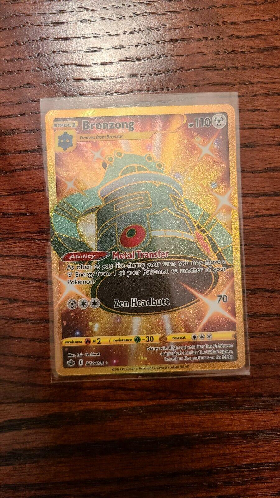 Pokemon Chilling Reign Bronzong Gold Secret Rare 223/198