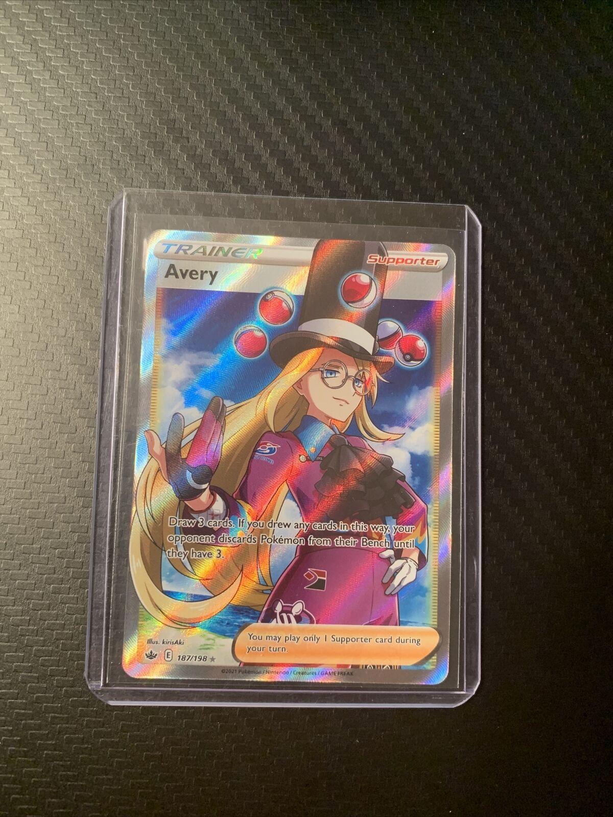 Avery 187/198 Pokemon TCG Chilling Reign Full Art Ultra Rare Near Mint