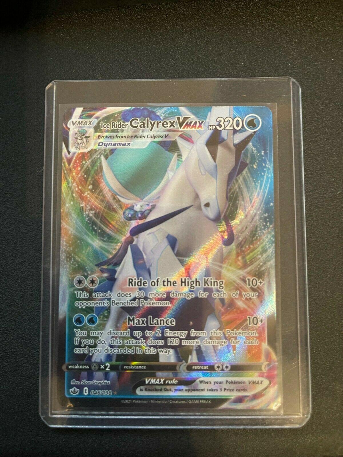 Pokemon - Ice Rider Calyrex VMAX - 046/198 - Full Art - Chilling Reign - NM/M