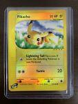 Pikachu Reverse Holo Expedition 124/165 Pokemon Card MP, Back DMG