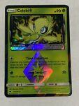 Pokemon TCG SM Lost Thunder 19/214 Celebi Prism Star Rare Card