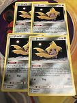 4x STELLAR WISH Jirachi 99/181 Non-Holo Rare Theme Deck Pokemon Team Up PLAYSET
