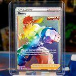 Bruno #172/163 Full Art Trainer Secret Rainbow Rare Pokemon Battle Styles Card