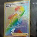 Cheryl Full Art Trainer Secret Rare 173/163 Rainbow Pokemon Battle Styles Card