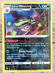 Galarian Weezing 042/072 Rare Shining Fates Reverse Holo Pokemon Card