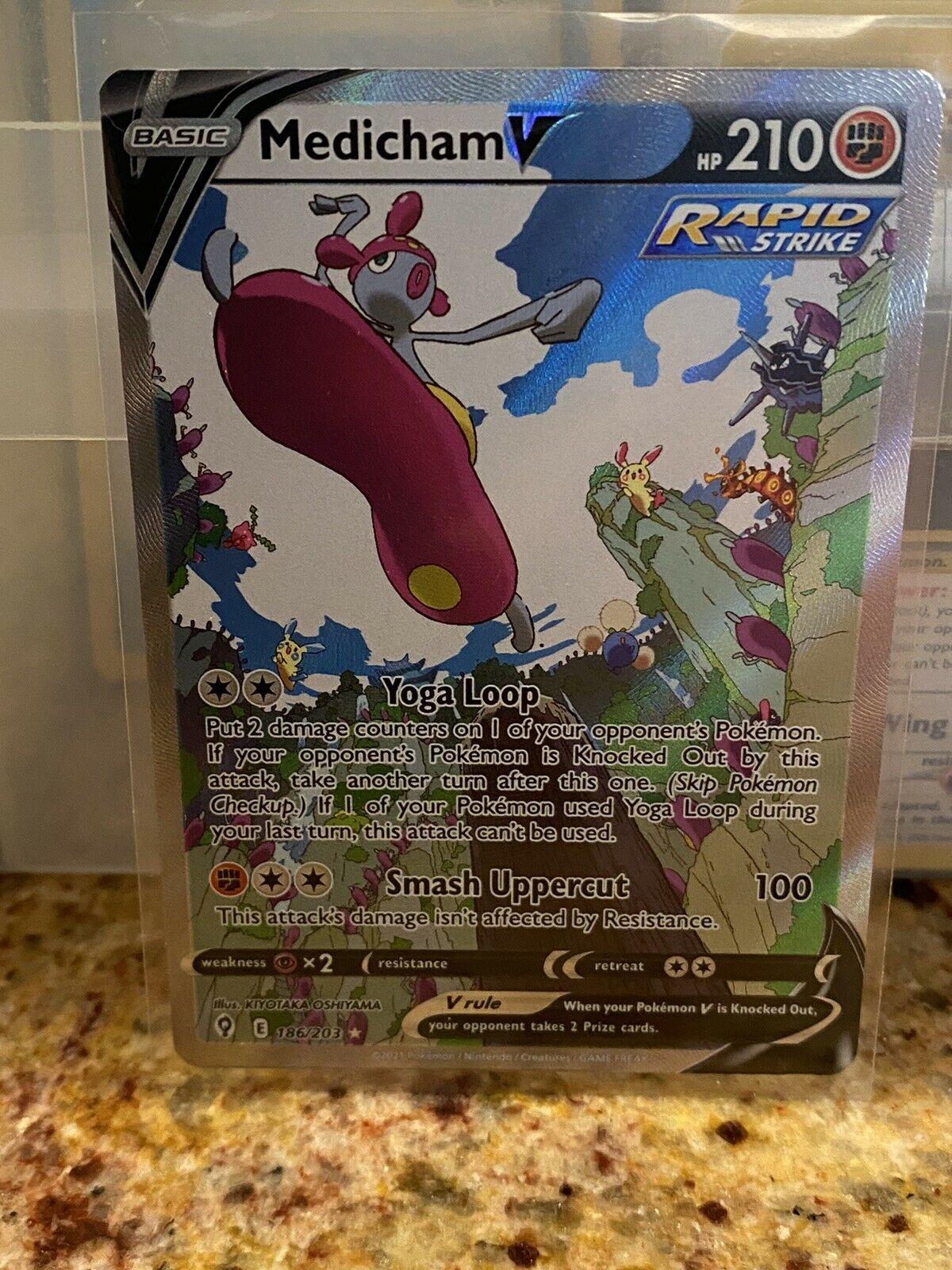Pokemon TCG - Evolving Skies - Medicham V - 186/203 - Alt Art Ultra Rare NM 💫✨