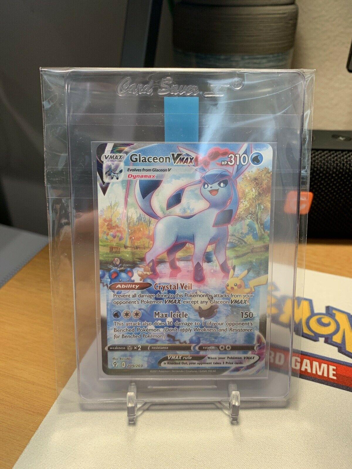 Pokémon Evolving Skies: Glaceon VMax 209/203 Alternate Art Secret Rare *GEM MINT