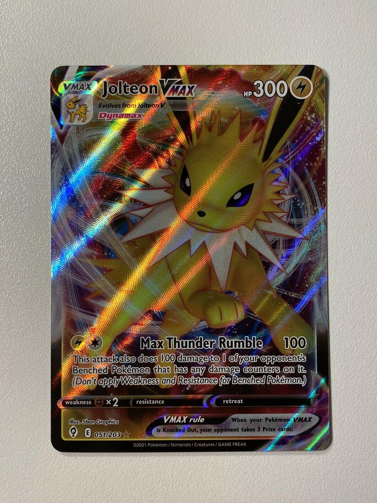 Jolteon VMAX 051/203 Ultra Rare - Pokemon Evolving Skies MINT