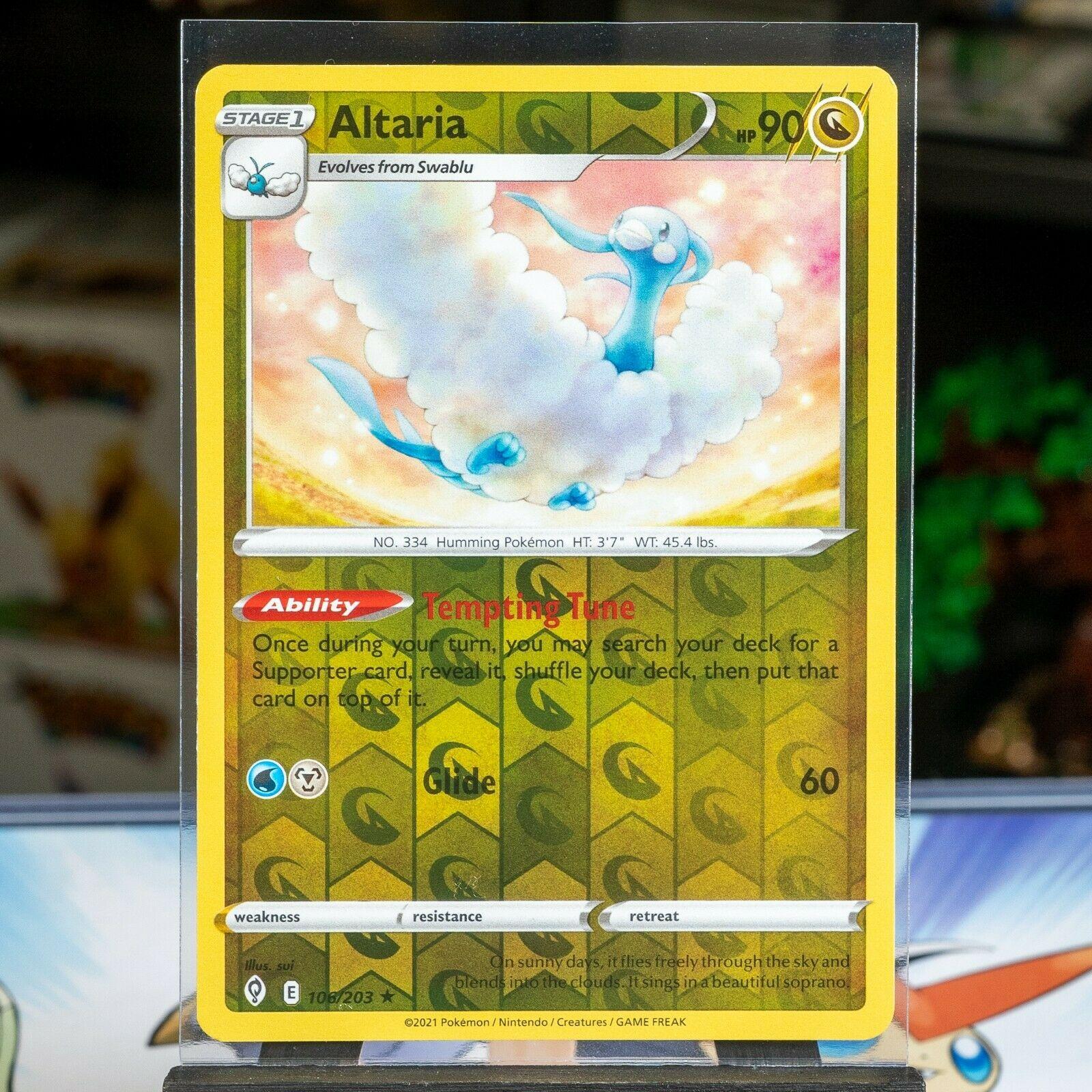 Altaria - #106/203 - Pokemon TCG: Evolving Skies Reverse Holo Rare Card