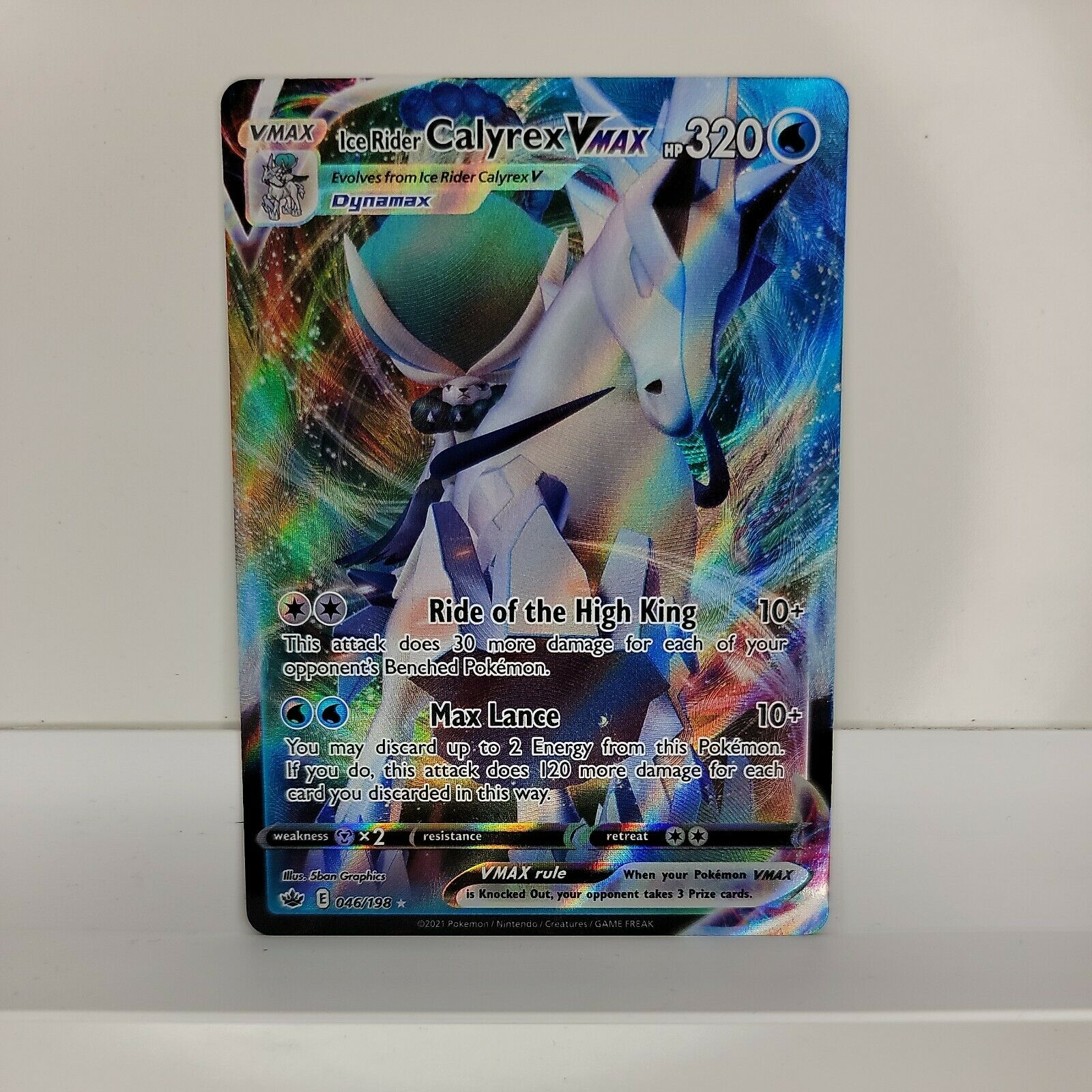 Sword & Shield Chilling Reign Pokemon Card, Ice Rider Calyrex Vmax 046/198 Ultra