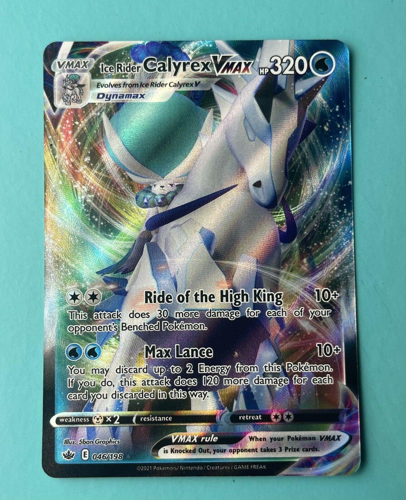 Ice Rider Calyrex Vmax - Chilling Reign Pokemon - Card 046/198