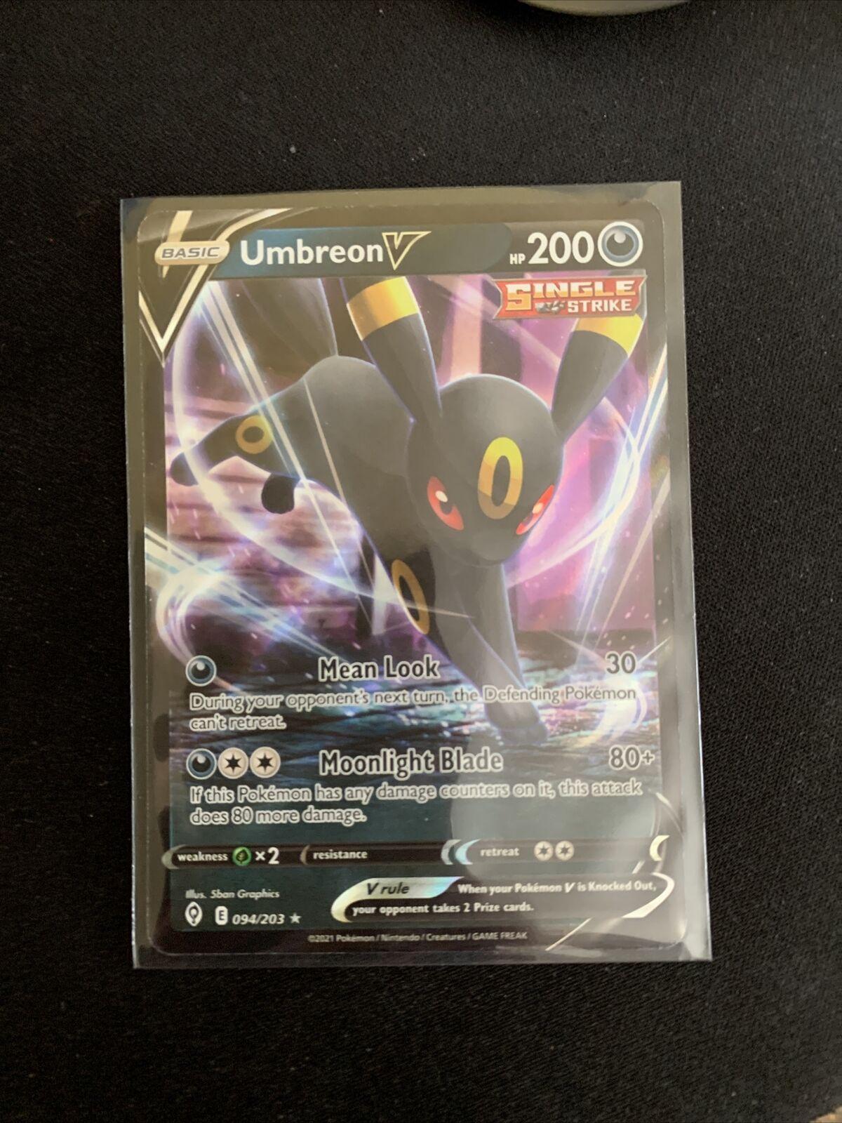 Pokemon - Umbreon V - 094/203 - Ultra Rare - Evolving Skies - NM/M - New