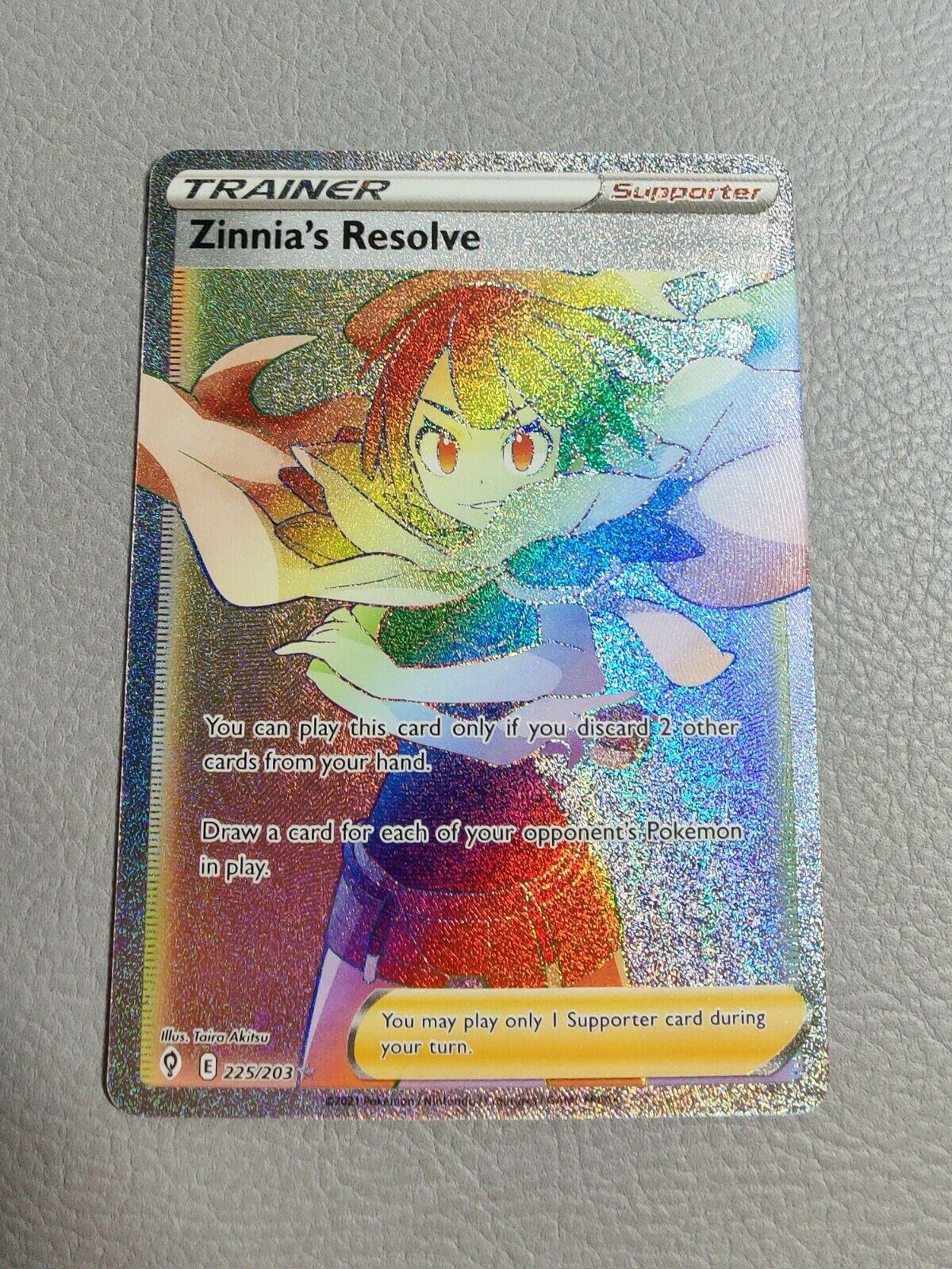Zinnia's Resolve Secret Rare | MINT | SWSH Evolving Skies 225/203 | Pokemon