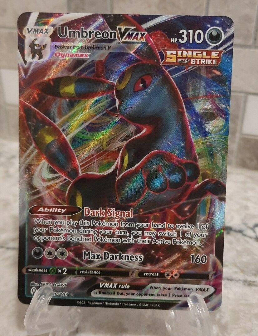 Pokemon Umbreon VMAX 095/203 Evolving Skies Ultra Rare Full Art English NM Card