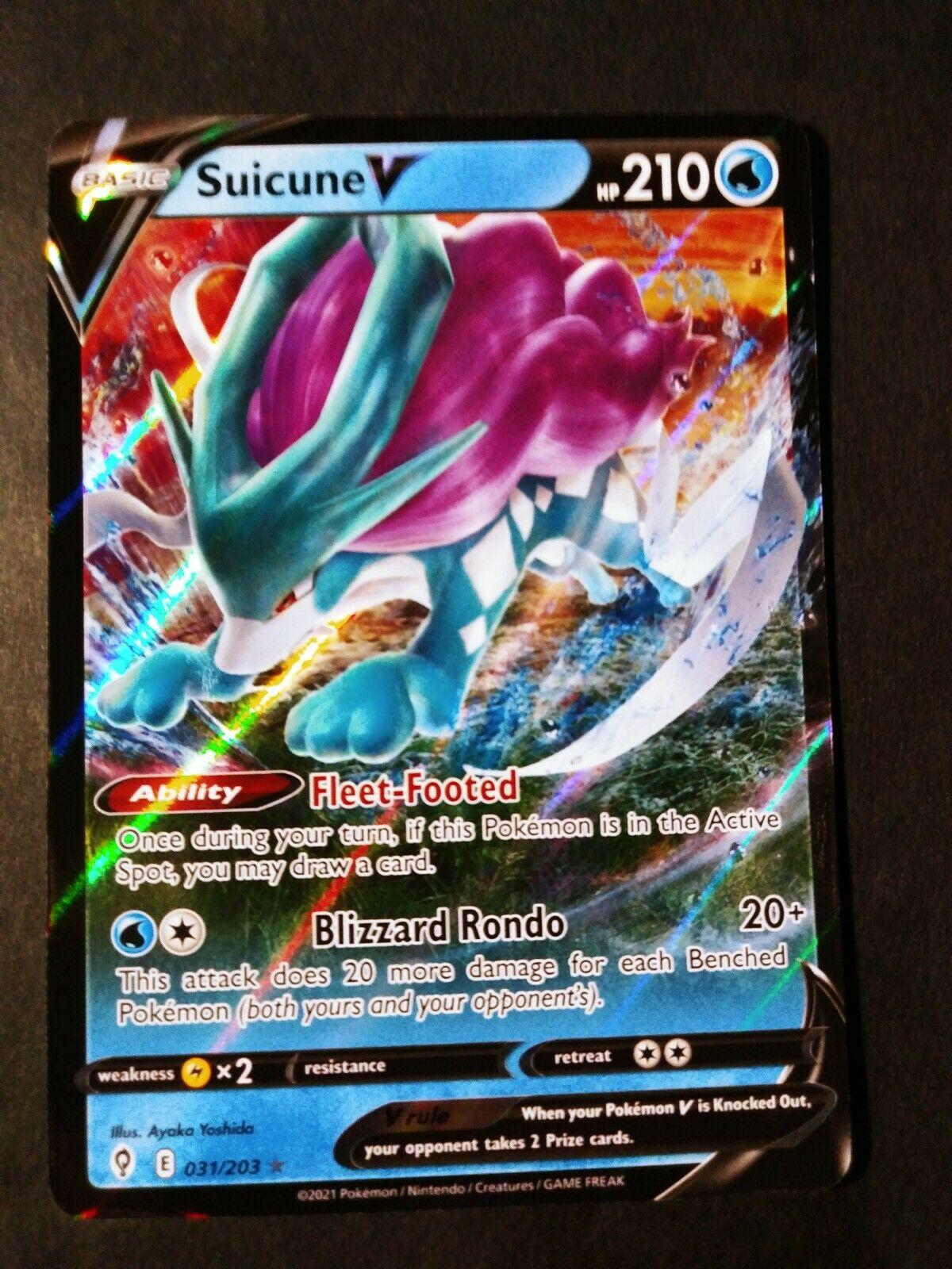 Suicune V 031/203 Pokemon Evolving Skies NM