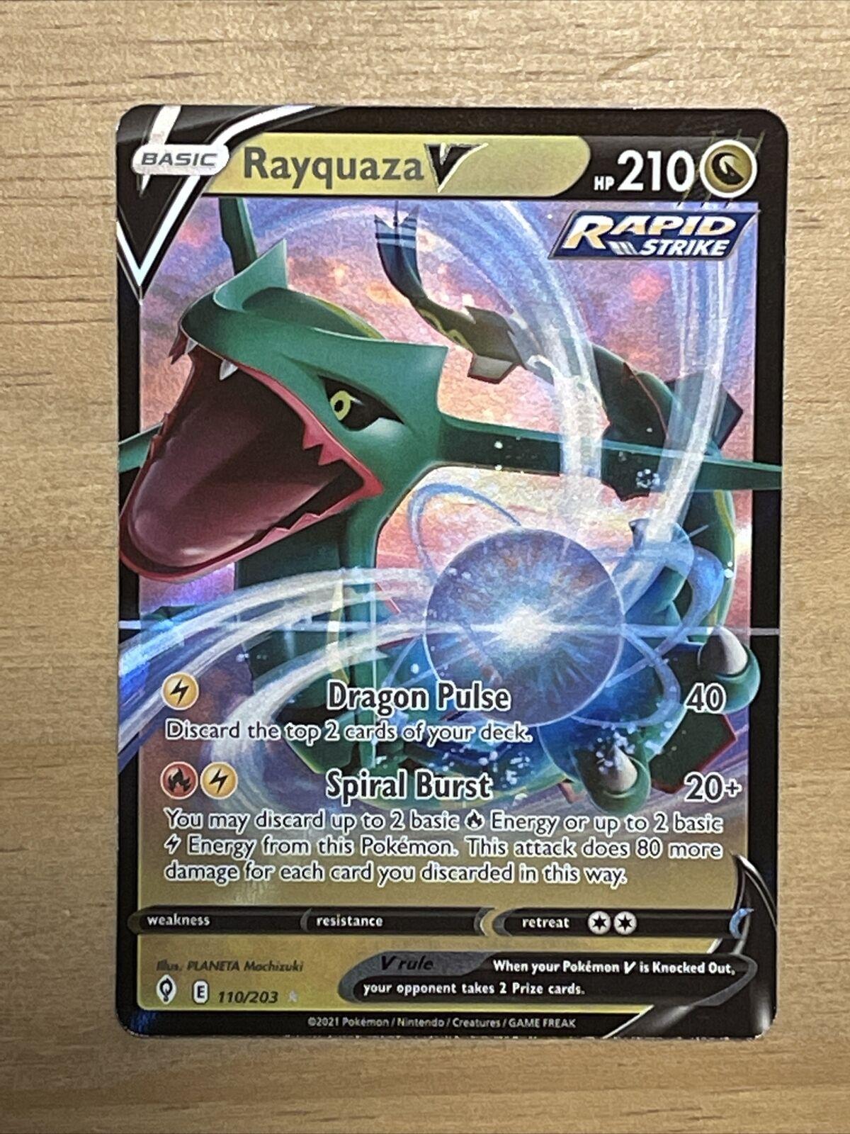 Pokemon TCG Rayquaza V (Ultra Rare) Near Mint Evolving Skies 110/203