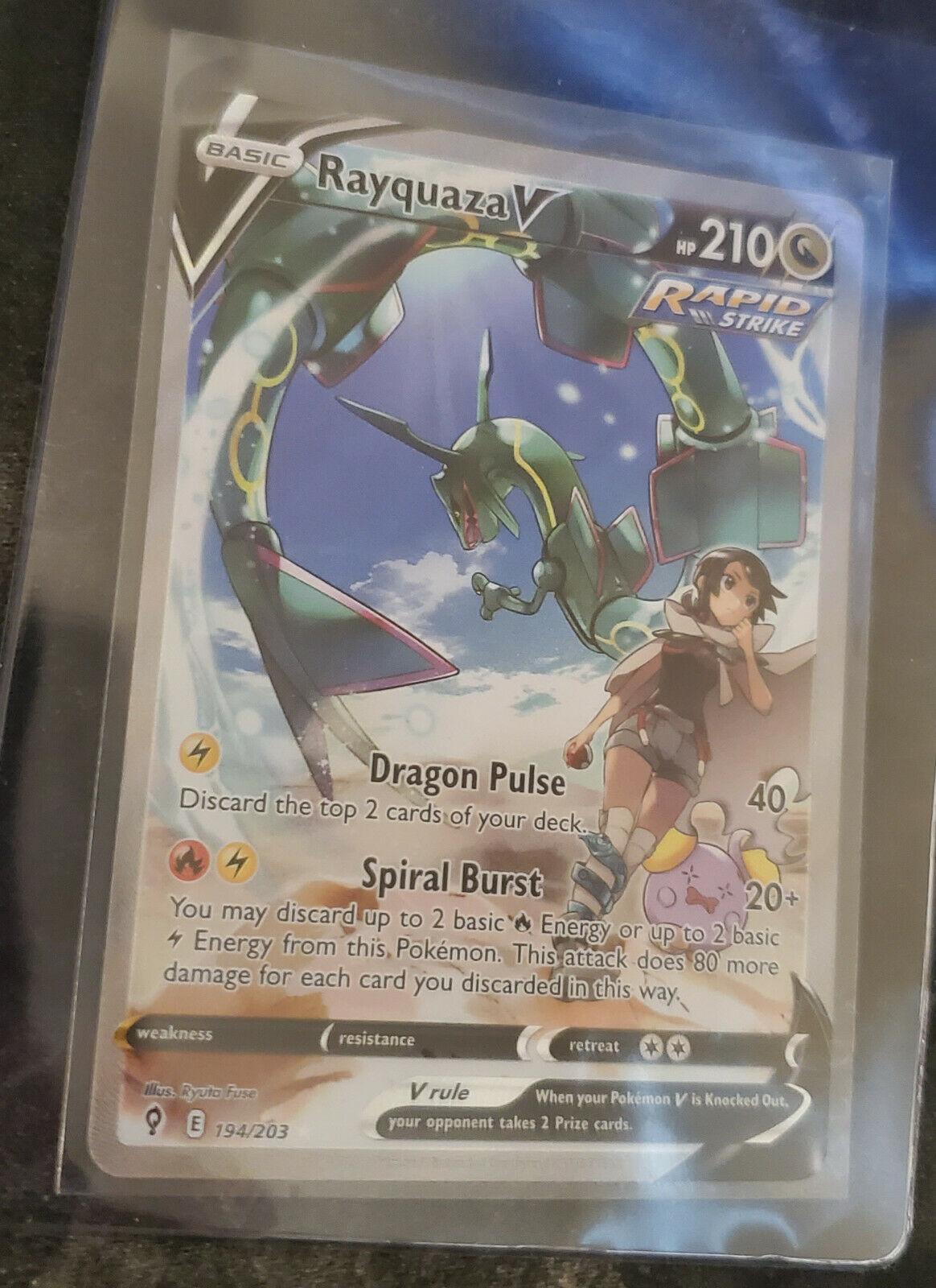 Rayquaza V 194/203 - Pokemon Evolving Skies - PSA 10 potential!