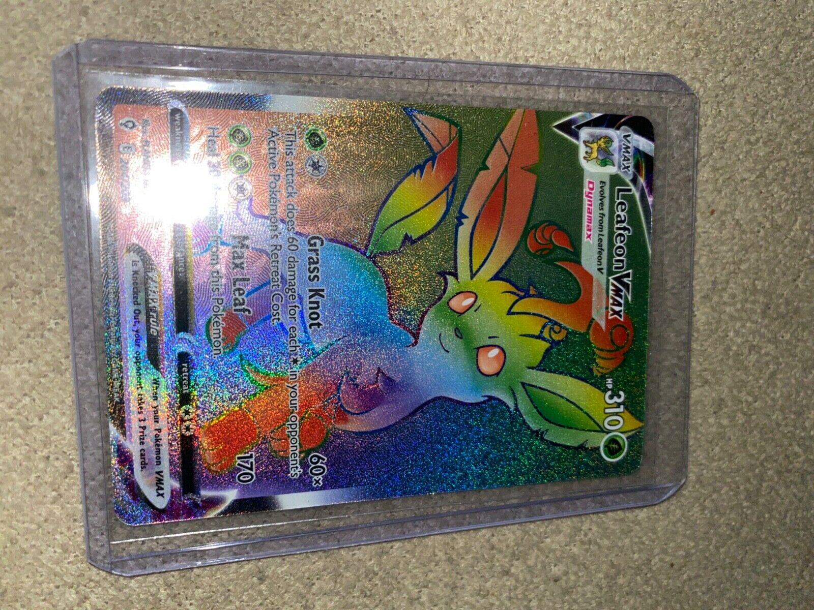 2021 Pokémon Evolving Skies Leafeon VMAX - 204/203 Secret Rare Gem Mint PSA 10