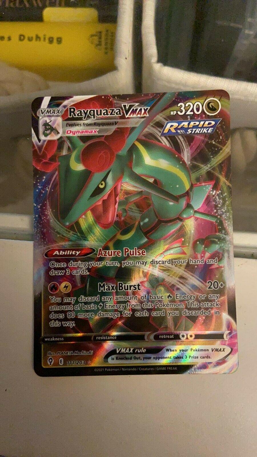 Rayquaza VMAX 111/203 NM Holo Ultra Rare Evolving Skies Pokemon Card