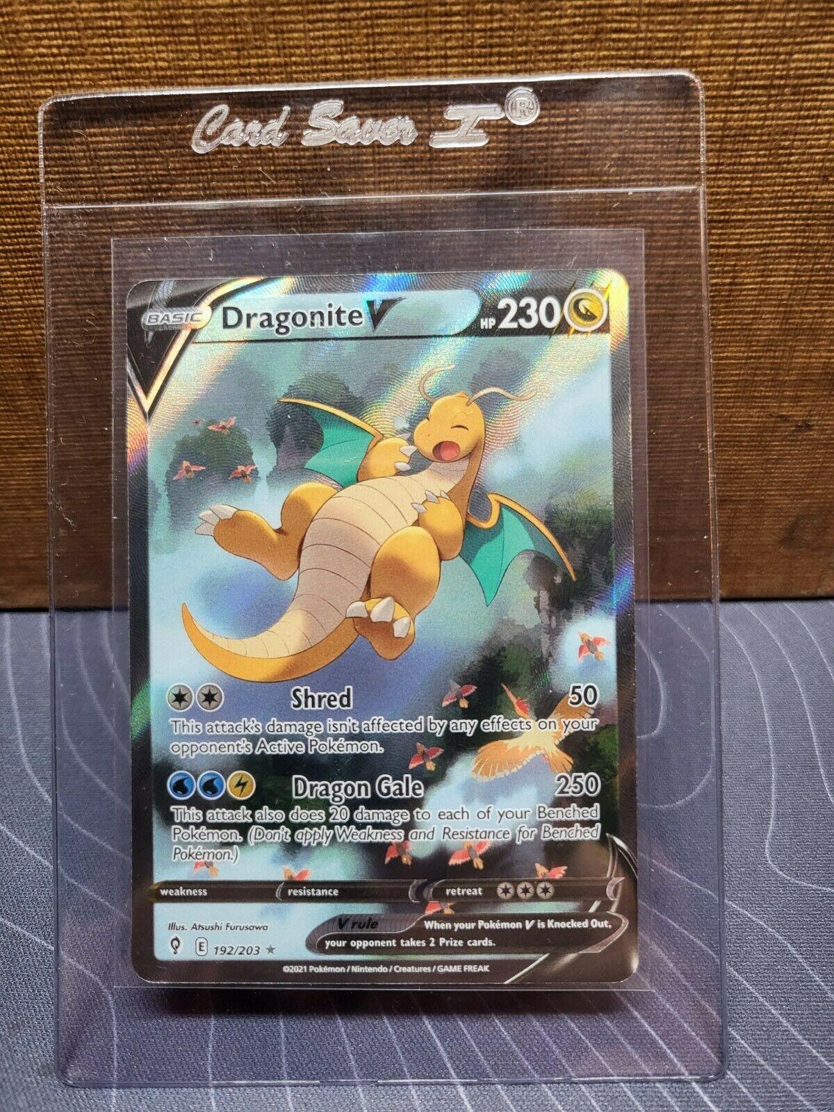 Dragonite V 192/203 Alternate Full Art Pokemon Evolving Skies. M/NM