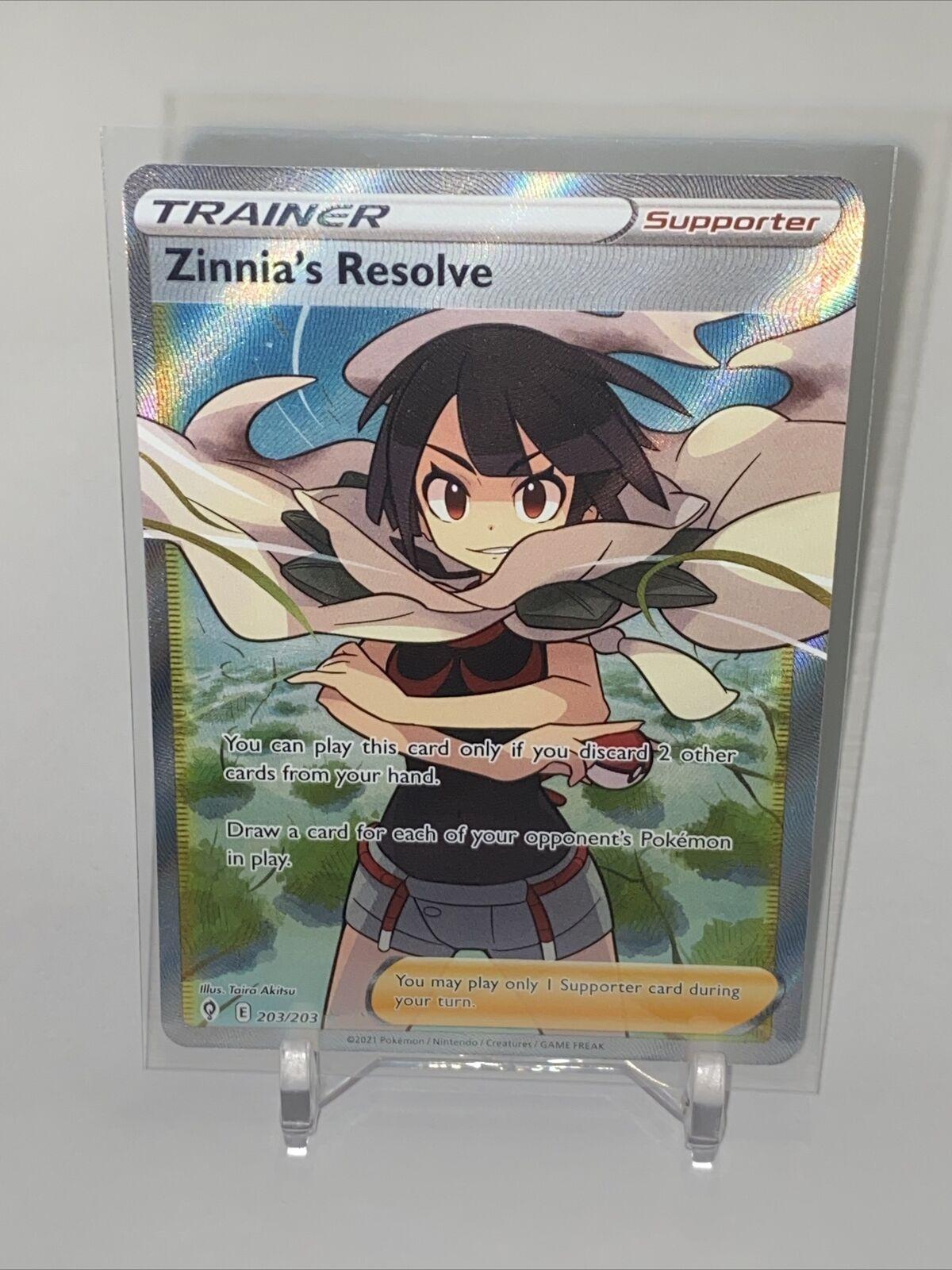 Zinnia's Resolve TCG Pokemon Evolving Skies Full Art Trainer 203/203 - MINT