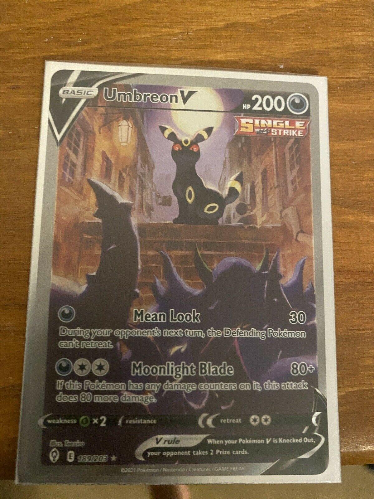 Umbreon V Alternate Art - Pokemon Evolving Skies Full Alt Art Card 189/203 Mint