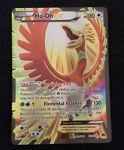 Ho-Oh EX 121/122 Pokemon TCG BREAKpoint Full Art Ultra Rare Light Play
