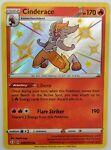 Cinderace SHINY SV017/SV122 Shining Fates NM Holo Foil Rare Pokemon Card