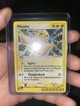 Holo Pikachu #012 Black Star PROMO Pokemon Card 2003NM e reader bar