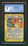 Pokemon 2002 Expedition DRAGONITE Holo 9/165 - Graded CGC 7